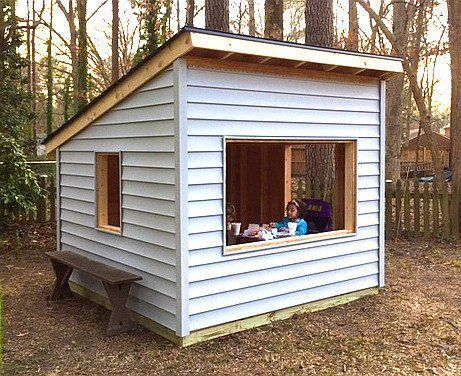 Simple Free Playhouse Plan With Shed Roof And 8x8 In Size Kidsplayhouseplans Diyplayhouse Shed Roof Design Building A Shed Build A Playhouse