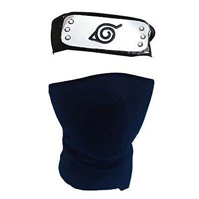 Kids Anime Leaf Village Naruto Hatake Kakashi Cosplay Mask Ninja Headband Set Kakashi Naruto Headband Naruto Costumes