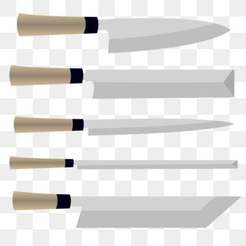 Traditional Style Kitchen Sushi And Sashimi Knives Set Kitchen Knives Kitchen Knife Knives Png And Vector With Transparent Background For Free Download Kitchen Styling Traditional Style Sashimi