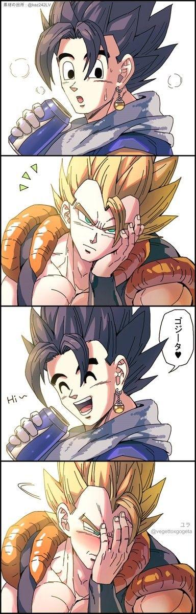 Vegetto And Gogeta Dragon Ball Super Manga Anime Dragon Ball Super Dragon Ball Art