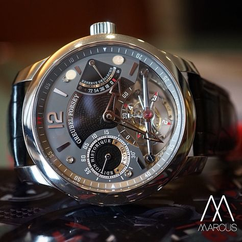 The Greubel Forsey Edition Historique in a unique steel edition only at Marcus.