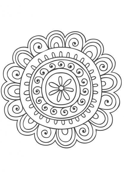 Coloriage Mandala Nature.Coloriage Mandala Nature 8 Desarrollo De La Inteligencia Mandala