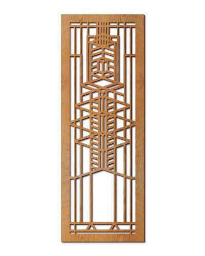 Frank Lloyd Wright Robie Gl Hardwood Art Screen Wall