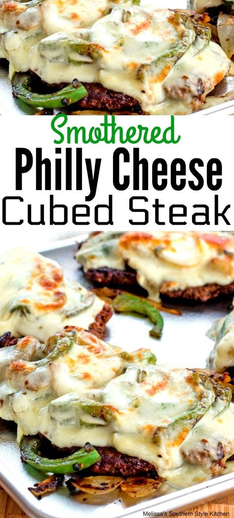 melissassouthernstyekitchen phillycheesesteak southernstyle cheesesteak cubedsteak easyrecipe easymeals smothered recipes philly cheese dinner steak cubed Smothered Philly Cheese Cubed SteakYou can find Beef steak recipes and more on our website Cubed Steak Recipes Easy, Steak Sandwich Recipes, Swiss Steak Recipes, Meat Recipes, Cooking Recipes, Kale Recipes, Slow Cooking, Recipes With Cube Steak, Cooking Tips
