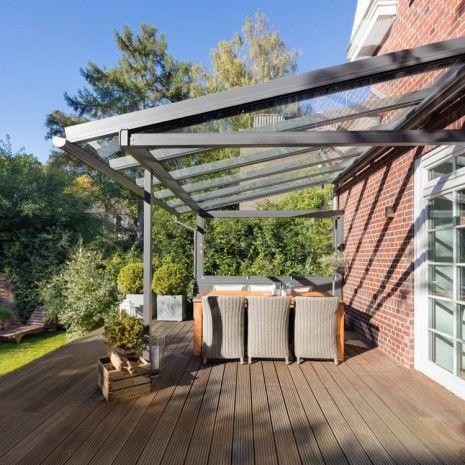 Solarlux Atrium Terrassenüberdachung Hamburg Seitenansicht - auswahl materialien terrassenuberdachung