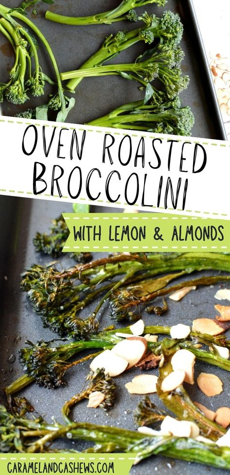This crispy oven roasted broccolini recipe is so easy and delicious! All you need are 4 ingredients for this delicious and healthy side dish. Gluten-free, dairy-free, paleo #broccolini #broccoli #ovenroasted