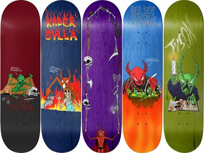 Neckface X Baker Sorcery Survival Full Art Series Set Of 5 Skateboard Decks Ebay Skateboard Decks For Sale Skateboard Decks Art Series