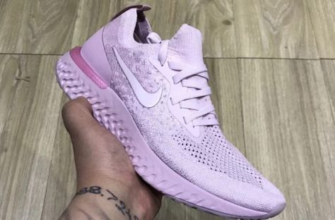 e0fc98b6314 A first look at the upcoming Pastel Pink colorway of the Nike Epic React  Flyknit.