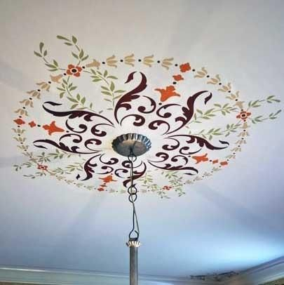 Victorian Ceiling Decor Classic Paint Stencils With European Design Wall And Ceiling Medallion Stencils Roy With Images Stencil Designs Stencils Wall Painted Ceiling