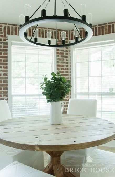 Breakfast Nook Table Brick Walls 26 Ideas Breakfast Farmhouse