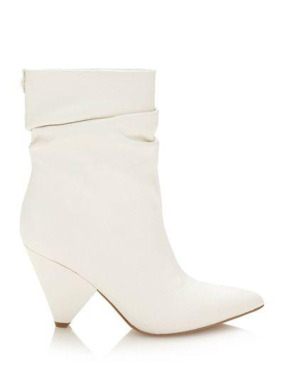Modna Poleca Mleczna Wiosna Modnaulica Pl Ankle Boot Shoes Wedge Boot