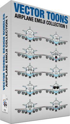 boeing Airplane Emoji Collection 1...