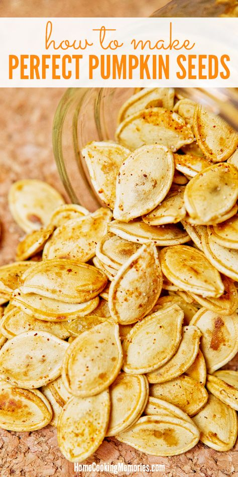 Don't throw those pumpkin seeds away! After carving your Halloween jack-o-lantern, roast perfect pumpkin seeds! This recipe shares how you can make a deliciously healthy batch of this salty and crunchy snack.