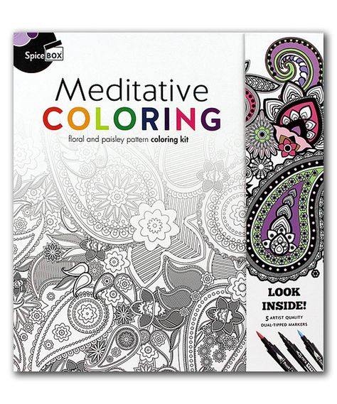 Take A Look At This Meditative Coloring Book Today Meditative Coloring Coloring Books Paisley Color