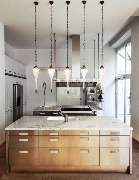 Bianco Dolomite Simple Kitchen Remodel
