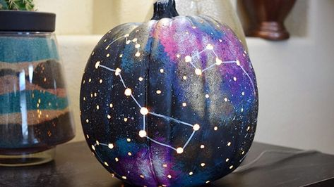 Here's How To Make A Star-Studded Galaxy Jack-O'-Lantern This Halloween