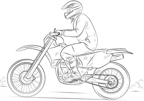 Coloring Page Dirt Bike Hd