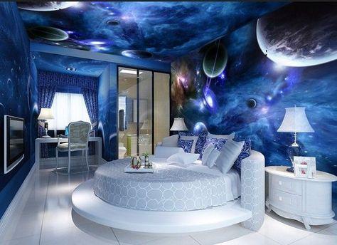 3D Blaues Universum Planet Fototapeten Wandbild Fototapete Bild Tapete  Familie De.picclick.com