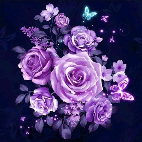 Diamond Painting Violet Lumination 100% Full Canvas Square Drill Diamo – Paint With Diamonds