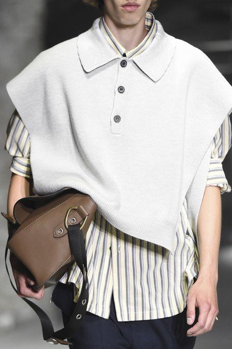 Lanvin Spring 2019 Menswear Fashion Show Details: See detail photos for Lanvin Spring 2019 Menswear collection. Look 51