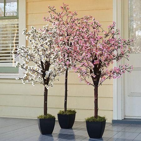 Pre Lit Artificial Peach Blossom Trees Artificial Plant Wall Artificial Plants Outdoor Artificial Plant Arrangements