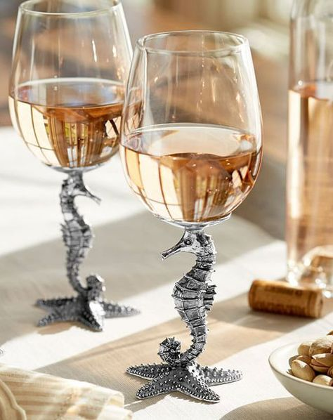 Seahorse wineglasses. Everything is better with seahorses.