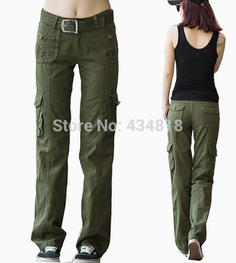 pantalon verde militar mujer outfit - Buscar con Google  da46d2be64ed