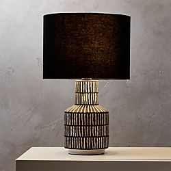 Hatch Black And White Table Lamp White Table Lamp Lamp Table Lamp