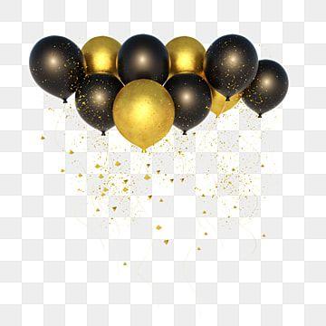 تمويل بالون الذهب بالونات قصاصات فنية ذهبي بالون Png وملف Psd للتحميل مجانا In 2021 Black And Gold Balloons Balloon Clipart Balloons