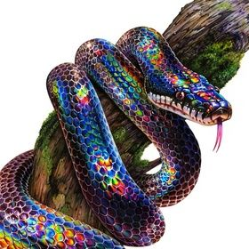 Rainbow Snake An Art Print By Morgan Davidson Rainbow Snake