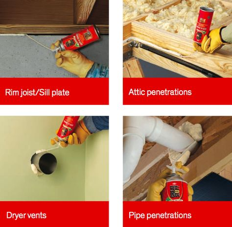 Use Great Stuff Gaps Cracks Insulating Foam Sealant To Seal And Insulate Around Common Areas Of Energy Los Spray Foam Insulation Spray Foam Spray Insulation