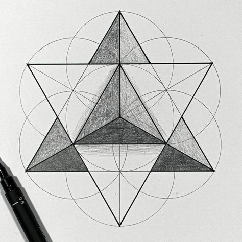 Drawing a Star Tetrahedron | Real Time Sacred Geometry Tutorial