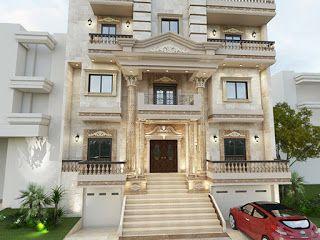 For Architects واجهات فيلات وعمارات سكنية كلاسيك House Designs Exterior House Front Design Luxury House Plans