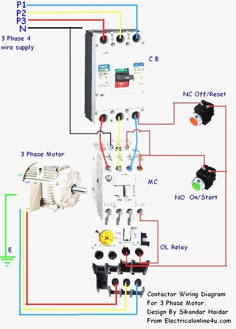 Magnetic Contactor Connection Diagram Magnetic Contactor Connection Diagram With Electrical Circuit Diagram Electrical Wiring Diagram Basic Electrical Wiring