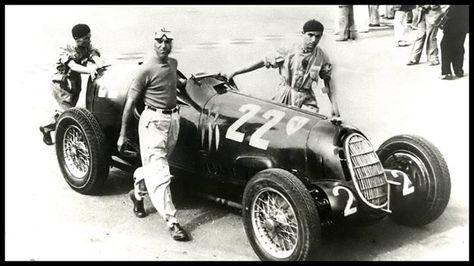 POSTER Tazio Nuvolari Automobilismo moto campione Alfa Romeo Auto Union Vintage