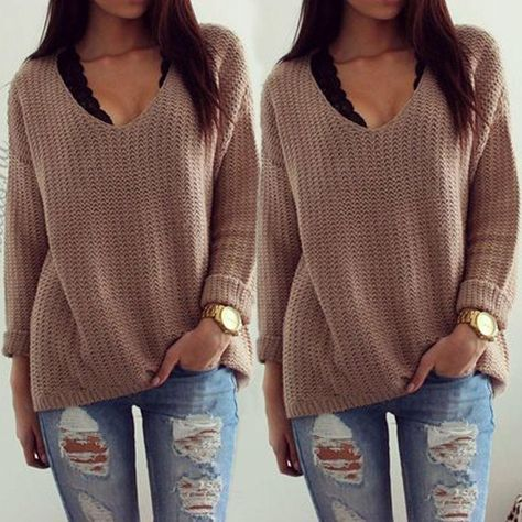 b4f3ce9de Annita Knit Sweater - Women Long Sleeve Loose Sweater Knitted Cardigan Coat  Jacket Outwear Casual New