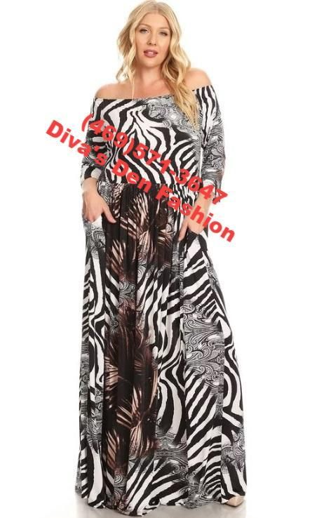 29bcf9527 Mixed Animal Print Maxi Dress | Boutique Wear | Animal print maxi ...