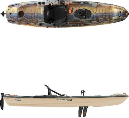 Pelican Premium The Catch 130 Hdii Sit On Top Kayak Rei Co Op Kayaking Kayak Storage Hobie Kayak