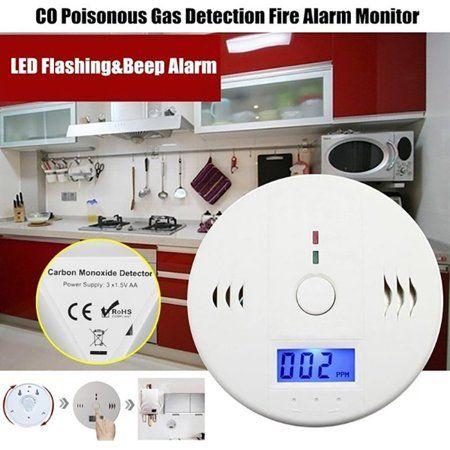 Home Improvement Carbon Monoxide Detector Alarm Monitoring
