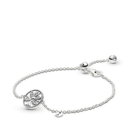Steriling Silver Celestial Stars /& Round Sparkle Slider With Crystal Bracelet