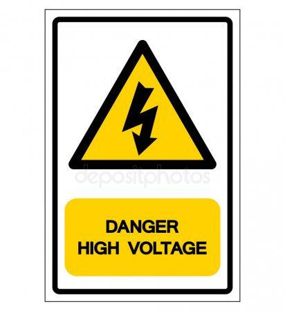 Danger High Voltage Symbol Sign Vector Illustration Isolate On White Backgroun Aff Symbol Sign Voltage Danger Ad Electric Fence Fence Signs Signs