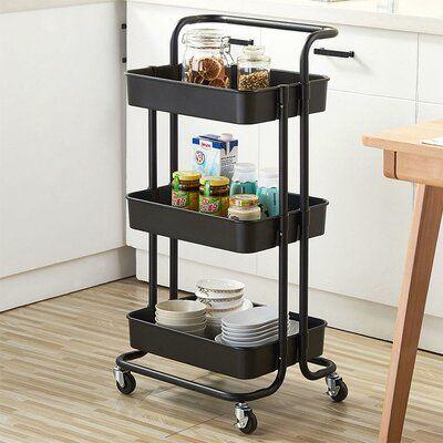 Ktaxon 3 Tier Home Kitchen Storage Utility Cart Size 32 28 H X 12 99 W X 17 13 D Finish Turquoise Kitchen