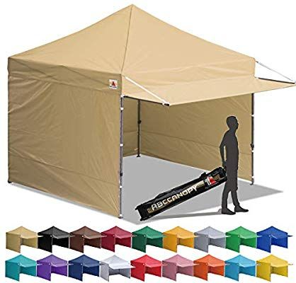 Amazon Com Abccanopy Canopy Tent 10 X 10 Pop Up Instant Shelters Commercial Portable Market Canopies With Matching Sidewa In 2020 Canopy Tent Tent Pop Up Canopy Tent