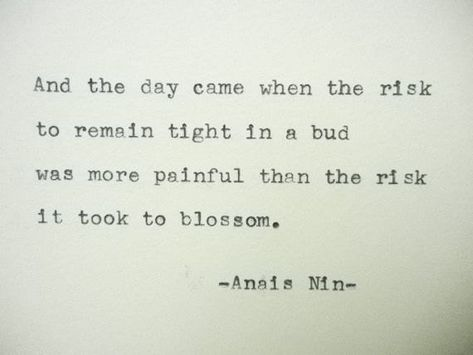 ANAIS NIN Quote Hand Typed Quote Made with Vintage Typewriter Anais Nin Quote