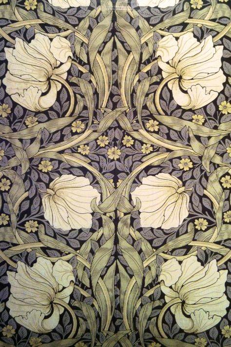 "WILLIAM MORRIS /""Bluebell/"" coton rideau tissu noir//Manille Morris /& Co"