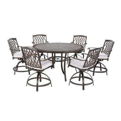 Ridge Falls 7 Piece Aluminum Outdoor High Dining Set With Cushions
