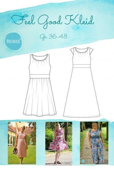 34-48 Schnittmuster Damen Kleid Hanna Gr