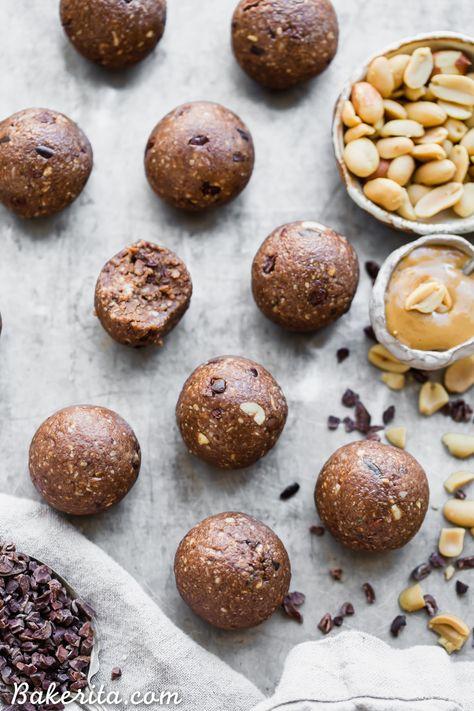 Cacao Peanut Butter Fat Bombs (Gluten Free, Grain Free, Keto, Vegan + Low Sugar)