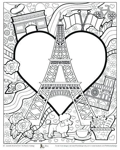 eiffel tower coloring page tower coloring page amazing coloring ...