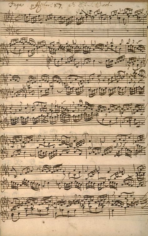 JS Bach 'The Well-tempered Clavier' manuscript Vintage Ephemera, Vintage Paper, Vintage Art, Vintage Prints, Music Paper, Sheet Music Art, Vintage Sheet Music, Beige Aesthetic, Old Paper